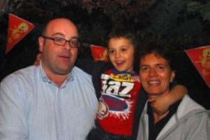 My family, Alfredo, Giuseppe and Sara