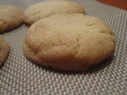 Warm Snickerdoodle Cookies