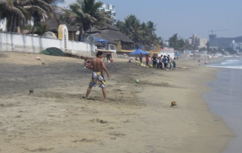 Soccer on Mexican Beach